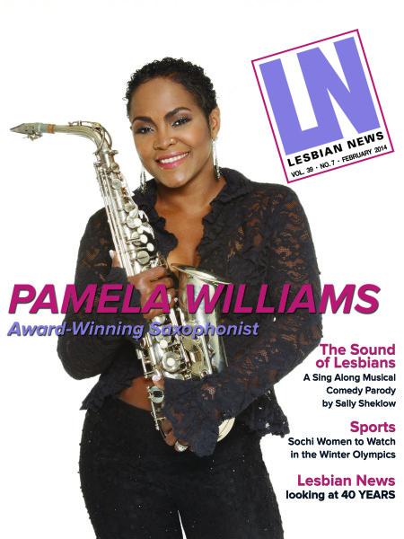 Lesbian News February 2014 Issue| Pamela Williams