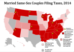 Married Same-Sex Couples Filing Taxes, 2014