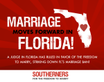 Marriage Moves Forward in Florida
