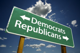 http://www.dreamstime.com/stock-photo-democrats-republicans-road-sign-image4563840