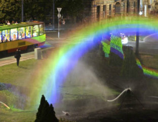 Warsaw LGBT installation
