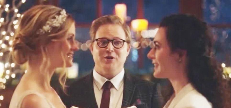 Hallmark Channel - kissing brides ad