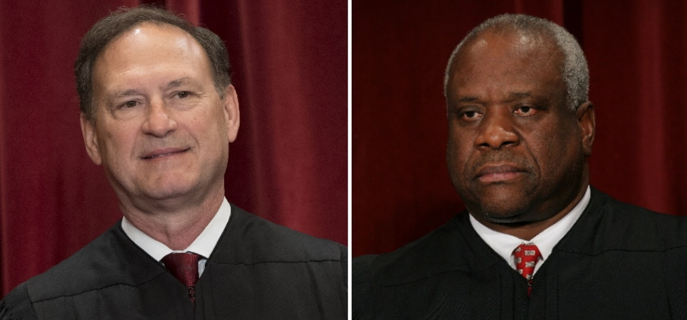 Justices Clarence Thomas and Samuel Alito