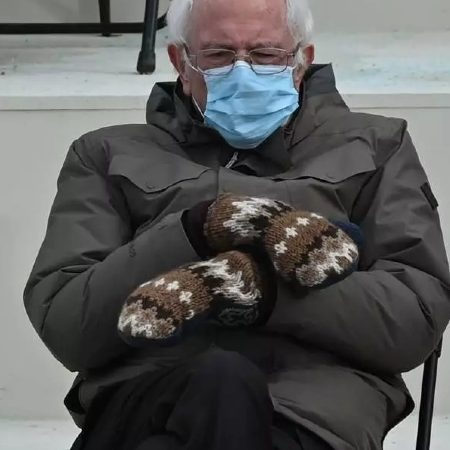 Viral Bernie Sanders' mittens made by a lesbian teacher