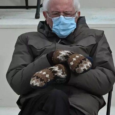 Viral Bernie Sanders' mittens made by a lesbian teacher